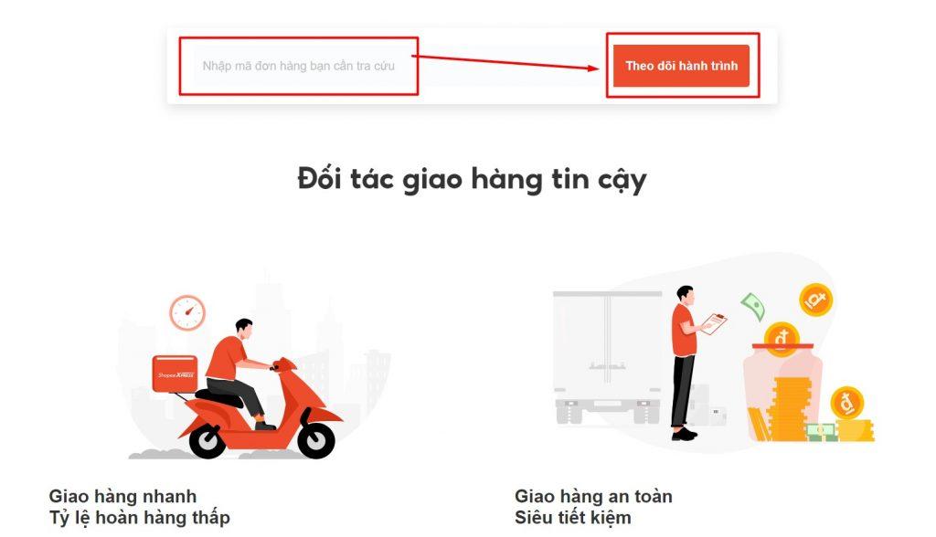 Nhập thông tin mã vận đơn Shopee Express VN