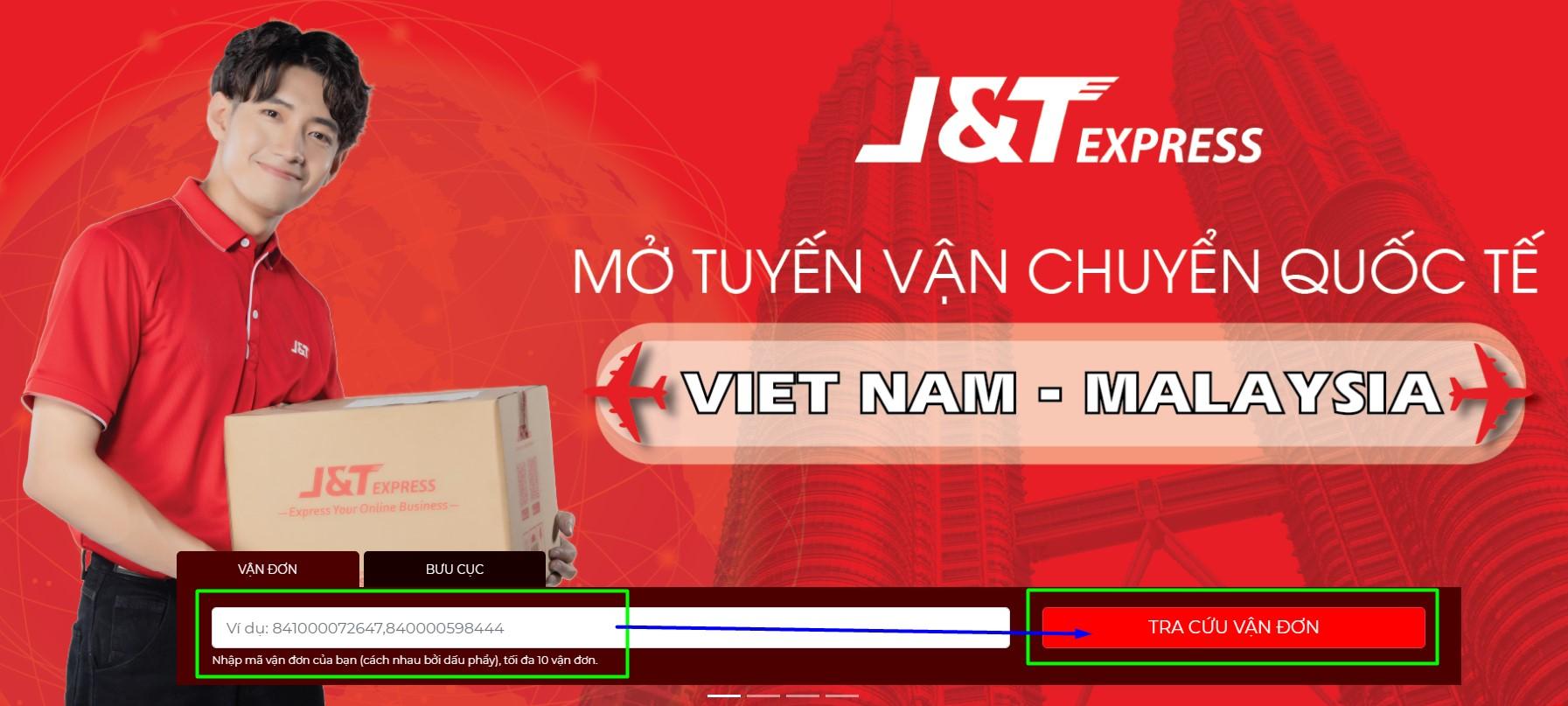 Tra cứu mã vận đơn xử lý bởi J&T Express VN