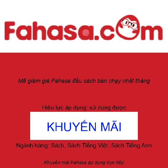 Mã giảm giá Fahasa đầu sách bán chạy nhất tháng